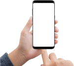 Mobile Click On Jumpic Com - Phone Frame Hand Png, Transparent Png