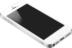 Iphone5 White Tilt - Mobile Png On Table, Transparent Png