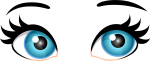 Blue Female Eyes Png Clip Art Best Web Clipart With - Female Cartoon Eyes Png, Transparent Png