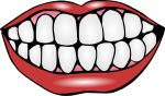 Mouth With Teeth Clipart - Clip Art Of Teeth, HD Png Download