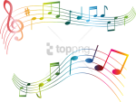Free Png Colorful Musical Notes Png Png Image With - Transparent Music Notes Clipart, Png Download