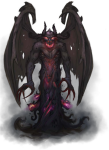 Only This Shadowy Bat-winged Demon's Teeth And Claws - Pathfinder Shadow Demon, HD Png Download