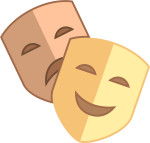 Theater Masks Png - Theatre Mask Icon, Transparent Png
