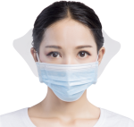 Disposable Surgical Mask With Transparent Anti Fog - Mask, HD Png Download