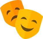 Theatre Icon Free - Theater Mask Icon Png, Transparent Png