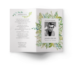 Funeral Program Template Leafy 1 - Well Designed Funeral Program, HD Png Download