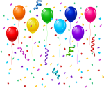 Free Png Download Confetti And Balloons Png Images - Birthday Balloons And Confetti Png, Transparent Png