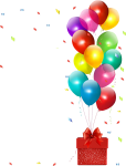 Happy Birthday Png - Balloons Birthday Party Png, Transparent Png
