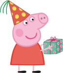 Peppa Pig Birthday Png - Peppa Pig With Party Hat, Transparent Png