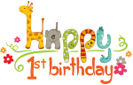 1st Birthday Png Transparent Image - Happy 1st Birthday Clipart, Png Download