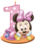 1st Birthday Transparent Images - Baby Minnie Mouse Png, Png Download