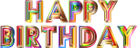 Birthday Banner Background Png - Happy Birthday Png Transparent, Png Download