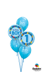 First Birthday Balloon Display - Happy Birthday Blue Balloon Png, Transparent Png