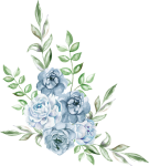 #freetoedit #ftestickers #watercolor #blue #rose #cluster - Flower Png Watercolor Blue, Transparent Png
