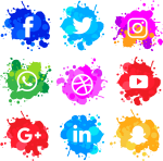 'social' Is Very Important For Your Business, That's - Social Media Watercolor Icons, HD Png Download