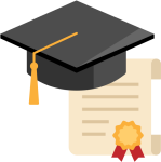 University Diploma Or Certificate Flat Icon Vector - Flat Diploma Png, Transparent Png