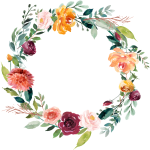 This Graphics Is Garland Vector About Watercolor,flowers - Orange Flower Wreath Transparent, HD Png Download