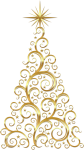Christmas Tree Christmas Day - Gold Christmas Tree Clipart, HD Png Download