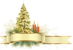 Free Png Large Transparent Gold And Green Christmas - Transparent Christmas Decor Png, Png Download