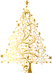 Gold Christmas Png - Gold Christmas Tree Vector Png, Transparent Png