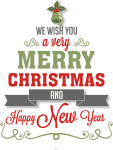 Modern Christmas Tree Transparent Png Clipart - Merry Christmas And Happy New Year Vector Png, Png Download