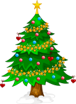 Transparent Xmas Tree Png Clipart - Transparent Background Christmas Tree Clip Art, Png Download