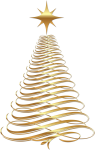 Free Png Download Gold Christmas Tree Transparent Background - Gold Christmas Tree Clipart, Png Download