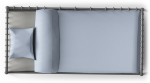 Clip Black And White Png For Free - Single Bed Png Top View, Transparent Png