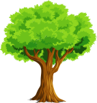 Colorful Natural Tree Vector Clipart - Tree Clipart, HD Png Download