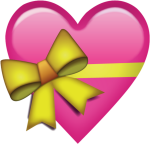Emojis De Whatsapp Corazones Png Black And White Download - Gift Heart Emoji Png, Transparent Png