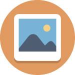 Image Icon - Gallery Icon Png Circle, Transparent Png