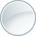 Gray Circle Glass Glossy Vector - Circle Glass Icon Png, Transparent Png