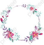 Borders Clipart Creative Hollow Circle Category File - Circle Flowers Png, Transparent Png