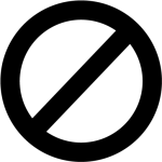 Circle With A Slash Through It - Circle With Line Black, HD Png Download