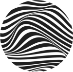 Ftestickers Circle Black Lines Stripes Abstract Waves - Art, HD Png Download