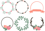 Clip Art Svg Download How To - Circle Monogram Frame Free, HD Png Download