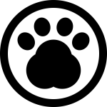 Pawprint In A Circle Of Pet Hotel Sign Svg Png Icon - Pet Icon Png Circle, Transparent Png