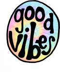 Groovy Tie Dye Good Vibes Circle - Good Vibes Png, Transparent Png