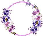 Flower Circle Transparent - Transparent Flowers In Circle Png, Png Download