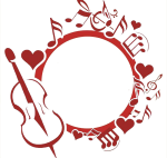 Picture Violin Musical Note Logo Transprent Png Free - Circle Music Logo Png, Transparent Png