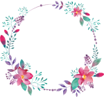 Flower Flowers Circle Flowerframe Flowercircle Wreth - Circulos Con Flores Png, Transparent Png