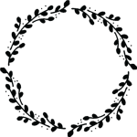 Floral Circle Border Black And White, HD Png Download