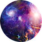 #background #circle #space #stars #galaxy - Hubble, HD Png Download