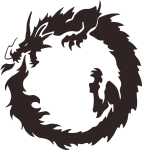 Ouroboros Chinese Dragon Japanese Dragon Drawing - Dragon In A Circle, HD Png Download