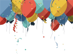 Birthday Cake Greeting Card Design Colored Balloons - Birthday Card Flat Design, HD Png Download