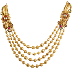 Antique Design Layer Necklace - Necklace Gold Jewellery Design, HD Png Download