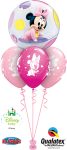 Here Are A Few More Lovely 1st Birthday Bouquet Design - Minnie Mouse Bubble Balloons, HD Png Download