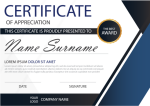 Elegance Certificate With Illustration Template - Graphic Design, HD Png Download