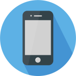 Flat Design Icon - Minimalist Phone Icons Png, Transparent Png