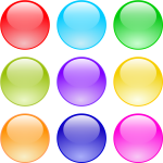 This Free Icons Png Design Of Glossy Circle Buttons - Blue Gumball Clipart, Transparent Png